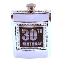 30th Birthday Flask