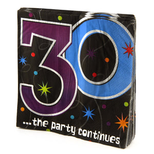 30th Birthday Prism Napkins - 16