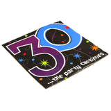 Thirtieth Birthday Prism Napkins