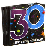 30th Bday Prism Napkins 16 Pack