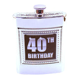 40th Birthday Flask