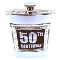 Fiftieth Birthday Flask