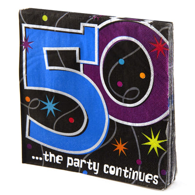50th Birthday Prism Napkins - 16