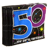 50th Birthday Party Napkins 16 Pack