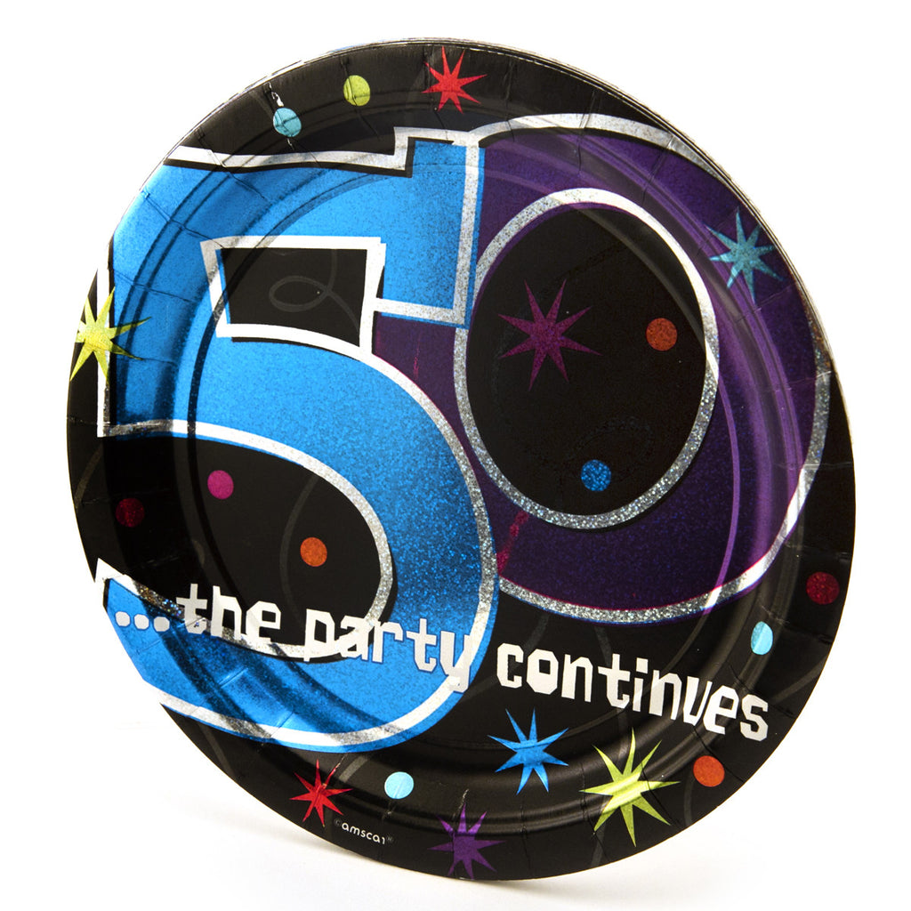 50th Birthday Prism Plates - 8