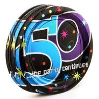 50th Birthday Party Plates Pack of 8