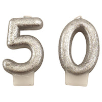 Glittery Silver 50 Candles