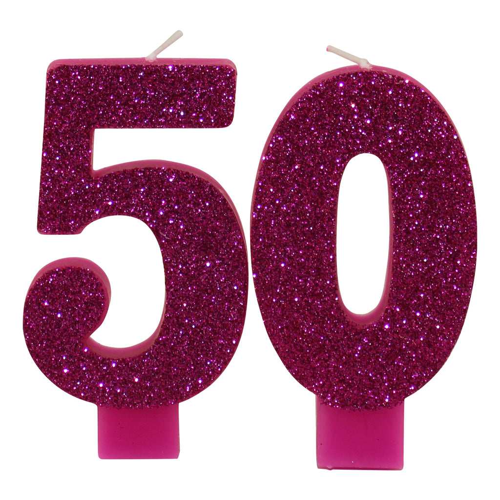 Glittery Pink 50 Candles