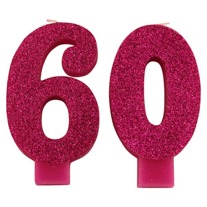 Glittery Pink 60 Candles