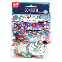Colorful 50th Birthday Confetti