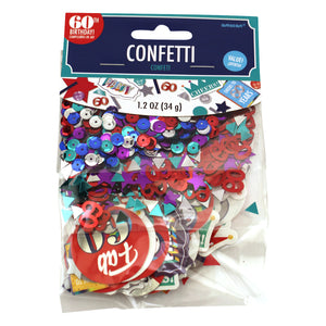 Colorful 60th Birthday Confetti