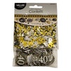 Sparkling 40th Birthday Confetti