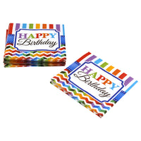 Rainbow Birthday Cocktail Napkins