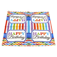Rainbow Birthday Dinner Napkins