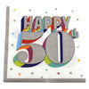 Colorful 50th Birthday Dinner Napkins