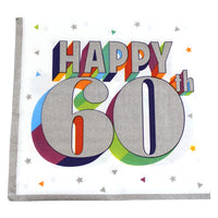 Colorful 60th Birthday Dinner Napkins