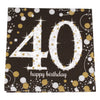 Sparkling 40th Birthday Cocktail Napkins