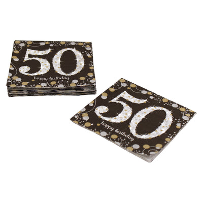 Sparkling 50th Birthday Cocktail Napkins