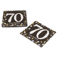 Sparkling 70th Birthday Cocktail Napkins