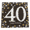 Sparkling 40th Birthday Dinner Napkins