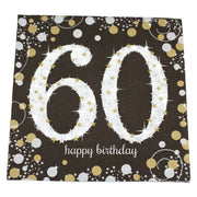 Sparkling 60th Birthday Dinner Napkins