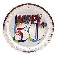 Colorful 50th Birthday Dessert Plates