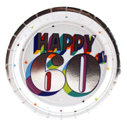 Colorful 60th Birthday Dessert Plates