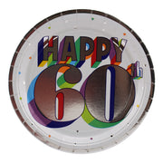 Colorful 60th Birthday Dinner Plates