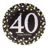 Sparkling 40th Birthday Dessert Plates