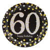 Sparkling 60th Birthday Dinner Plates