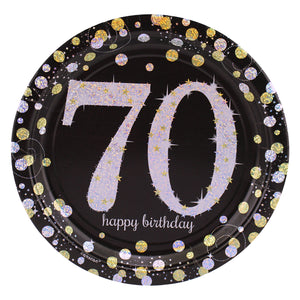 Sparkling 70th Birthday Dinner Plates