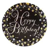 Sparkling Happy Birthday Dinner Plates