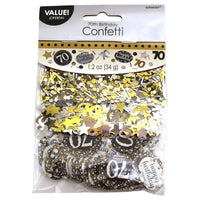 Sparkling 70th Birthday Confetti