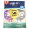 Colorful 50th Birthday Balloons