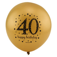 Sparkling 40th Birthday Balloons