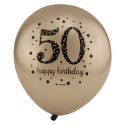Sparkling 50th Birthday Balloons