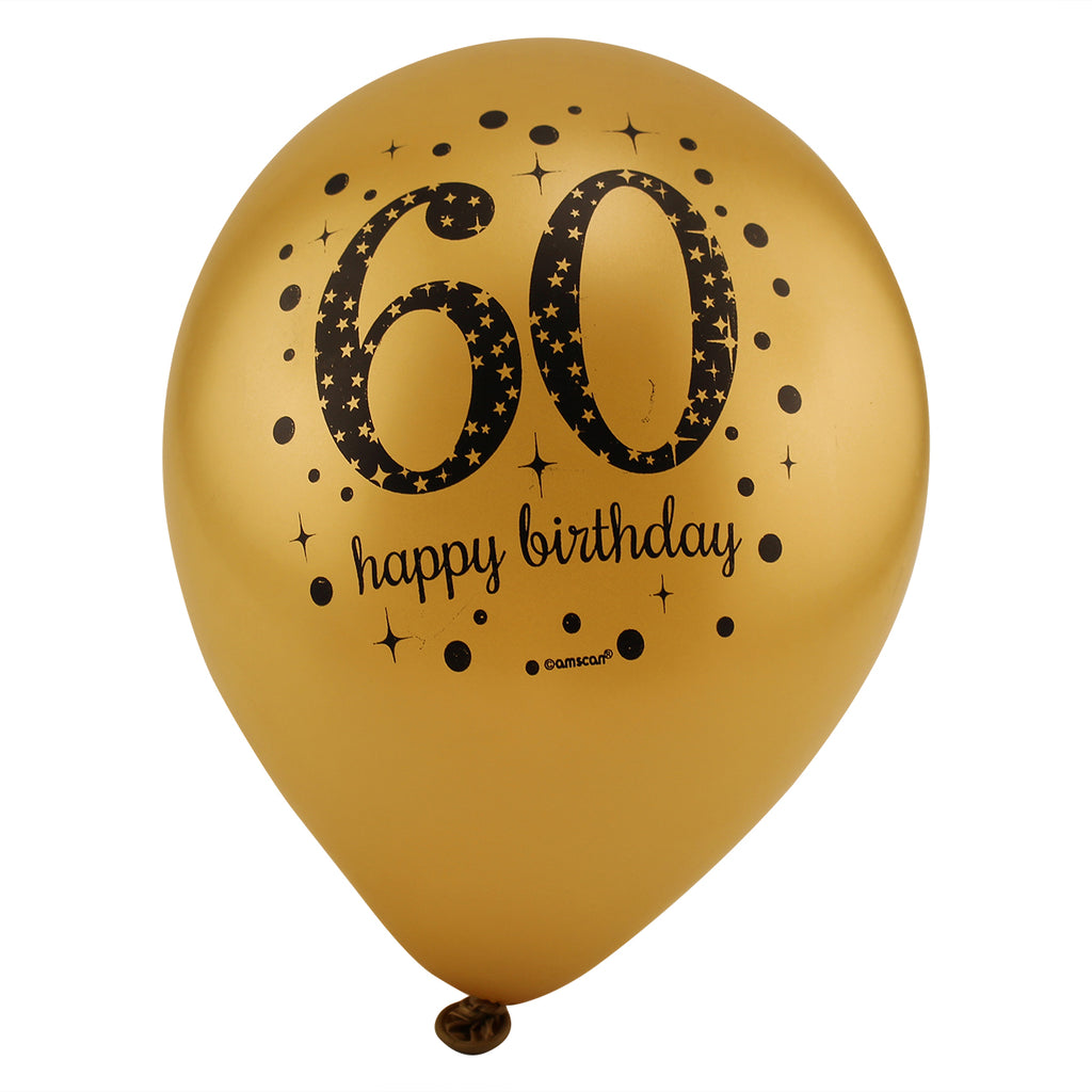Sparkling 60th Birthday Balloons