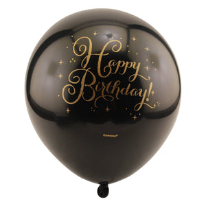 Sparkling Happy Birthday Balloons