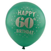 Colorful 60th Birthday Balloons