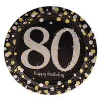 Sparkling 80th Birthday Dinner Plates