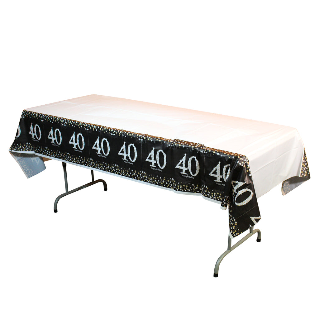 Sparkling 40th Birthday Table Cover