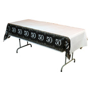 Sparkling 50th Birthday Table Cover