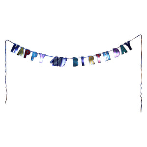 Colorful 40th Birthday Letter Banner