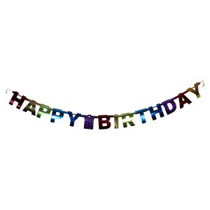 Rainbow Birthday Letter Banner
