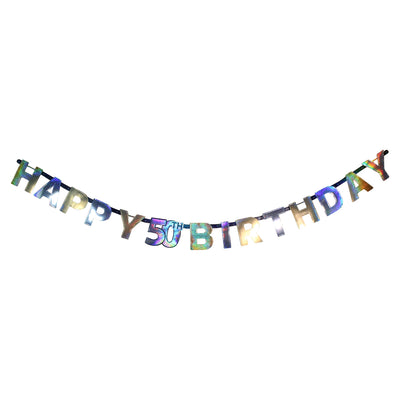 Sparkling 50th Birthday Letter Banner