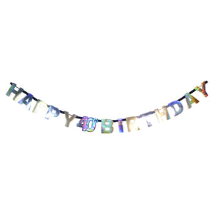 Sparkling 40th Birthday Letter Banner