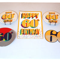 Colorful 60th Room Decoration Kit