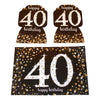 Sparkling 40th Room Decoration Kit