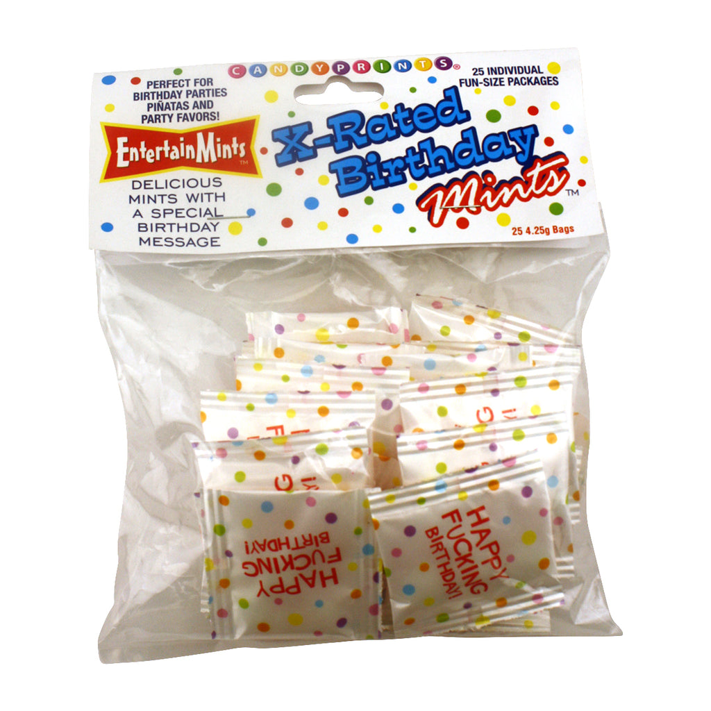 Happy Fucking Birthday Mints Pinata Packs
