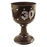 30th Birthday Diamond Goblet Black